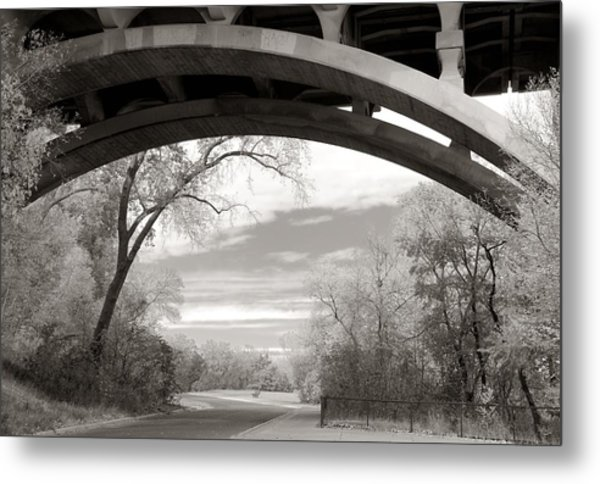 Ford Parkway Bridge Over West River Road In Minneapolis Metal Print