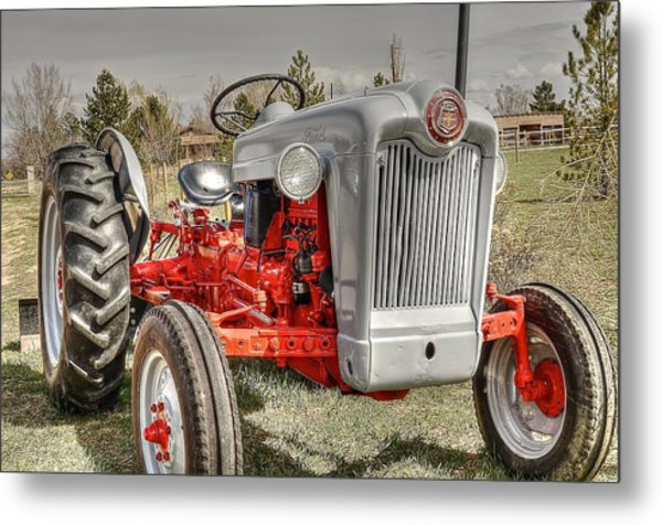 Ford Tractor Metal Print by Peter SPAGNUOLO