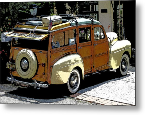 Ford Woodie Metal Print