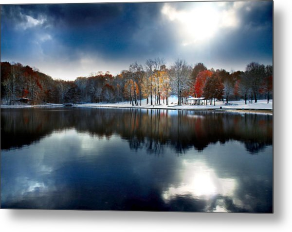 Foreboding Beauty Metal Print