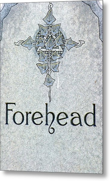 Metal Print featuring the photograph Forehead Headstone by Jeff Lowe