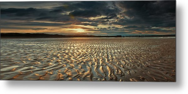 Foreshore At Dusk Metal Print