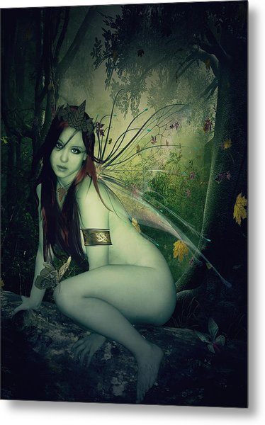 Forest Fairy Metal Print