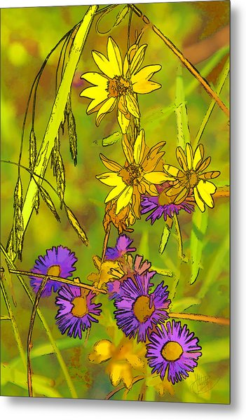 Forest Flora Metal Print