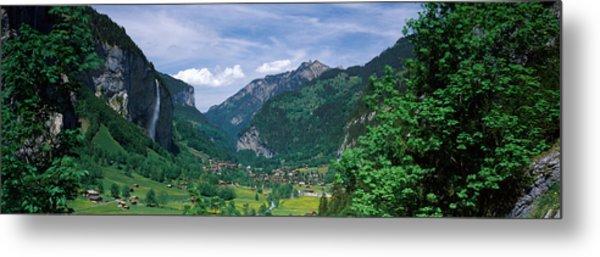 Forest, Lauterbrunnen Valley, Bernese Metal Print