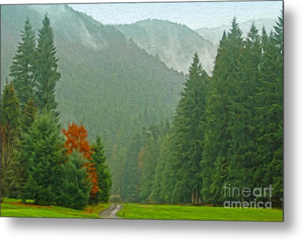 Forest Metal Print by Nur Roy