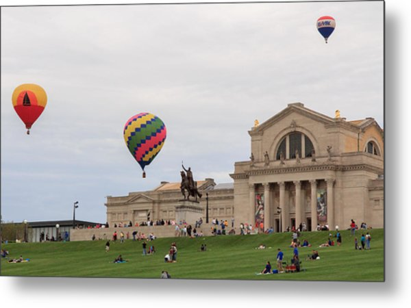 Forest Park Balloon Race Metal Print