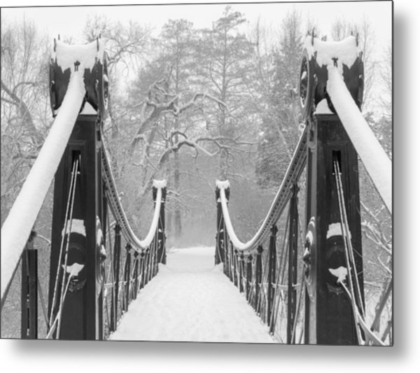 Forest Park Victorian Footbridge Metal Print