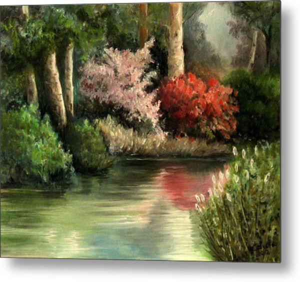 Forest Pond Metal Print
