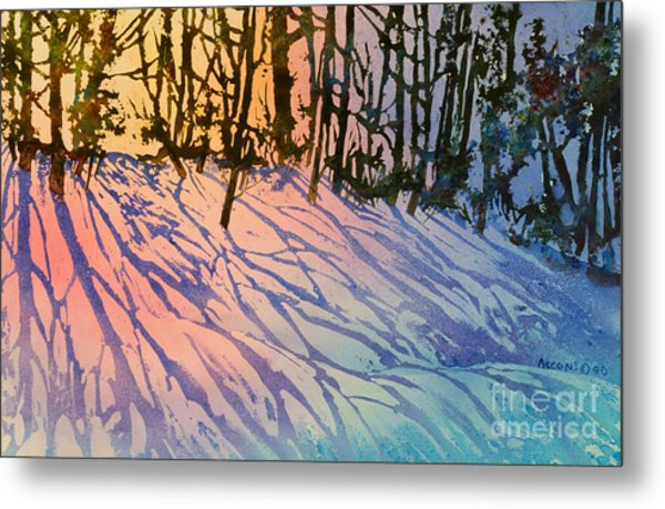 Forest Silhouettes Metal Print