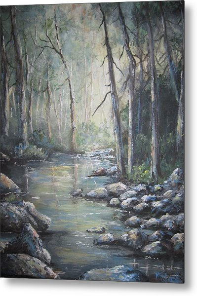 Forest Stream Metal Print