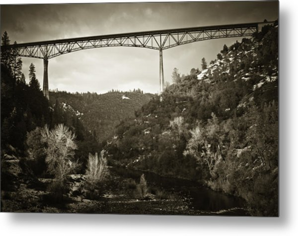 Foresthill Bridge In The Snow #3 Metal Print