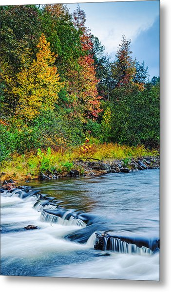 Foretelling Of A Storm Beaver's Bend Broken Bow Fall Foliage Metal Print