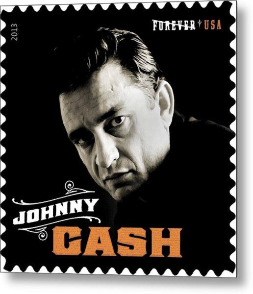 Forever Johnny Cash Stamp 2013 Metal Print