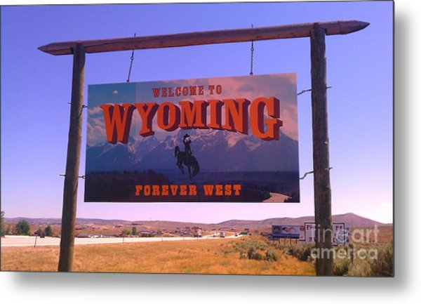 Forever West Metal Print