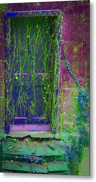 Forgotten Doorway Metal Print