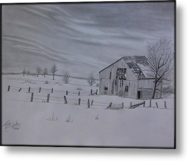Forgotten In The Snow Metal Print by Tony Clark