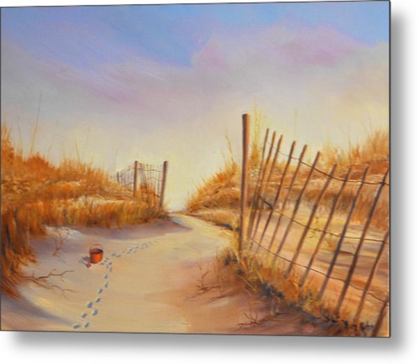 Forgotten Toy In The Sand Metal Print by Rich Kuhn