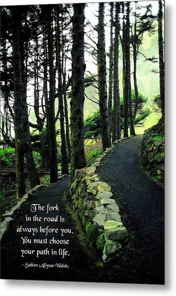 Fork In The Road Metal Print by Mike Flynn