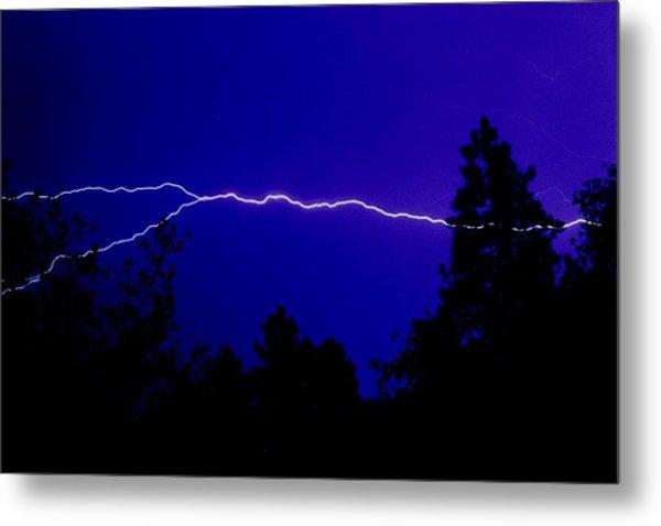 Forked Lightning Metal Print by Alfredo Martinez