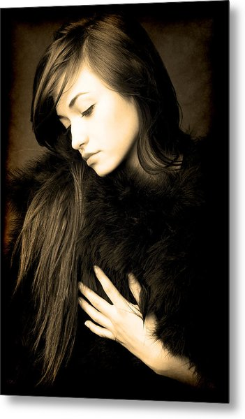 Metal Print featuring the photograph Forlorn Woman by Jennifer Wright