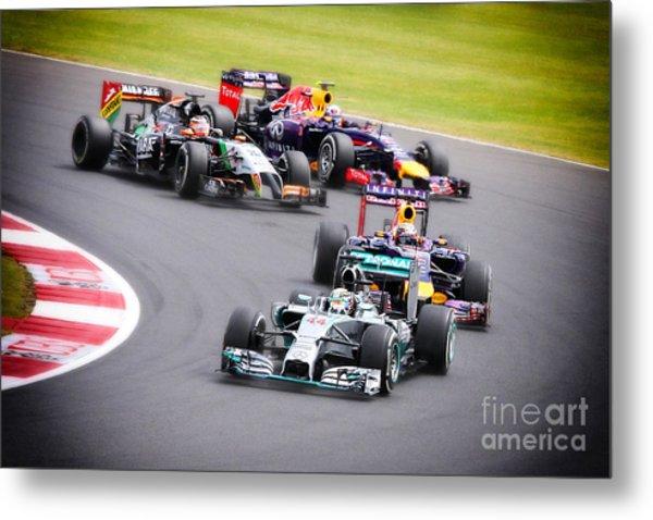 Formula 1 Grand Prix Silverstone Metal Print