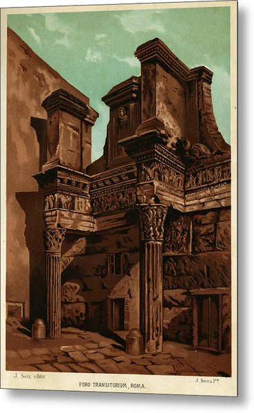 Foro Transitorum     Date 1891 Metal Print by Mary Evans Picture Library