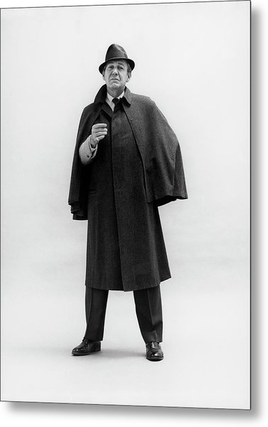 Forrest Tucker Wearing A Tweed Coat Metal Print by Leonard Nones