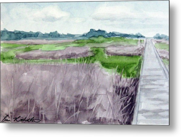 Fort Fisher's Path Metal Print