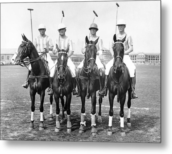 Fort Hamilton Polo Team Metal Print