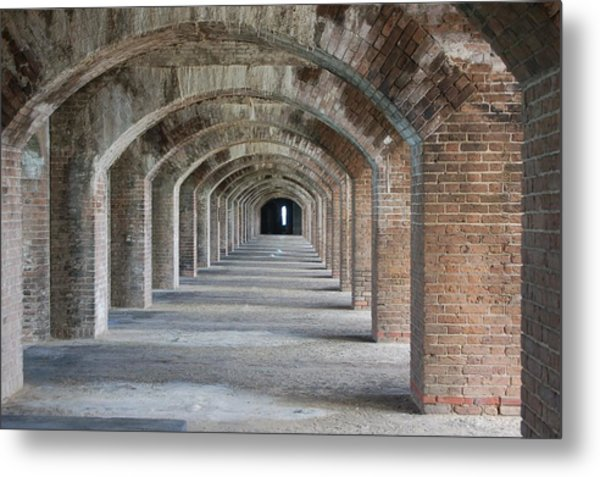 Fort Jefferson Arches Metal Print