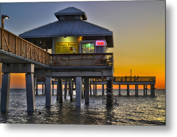 Fort Myers Beach Pier 4 Metal Print