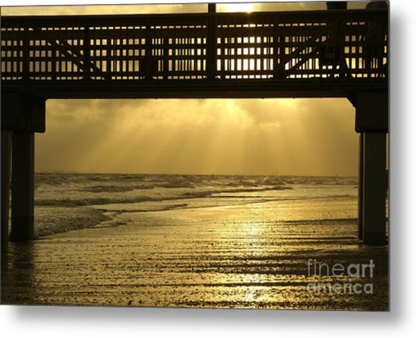 Fort Myers Golden Sunset Metal Print