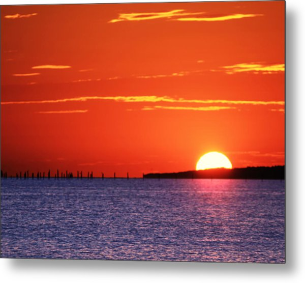Fort Story Sunrise Metal Print