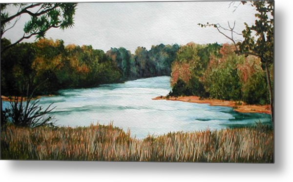 Fort Toulouse Coosa Tallapoosa River Metal Print by Beth Parrish