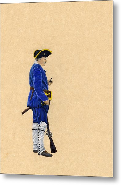 Fort Toulouse Soldier At Ease Metal Print by Beth Parrish