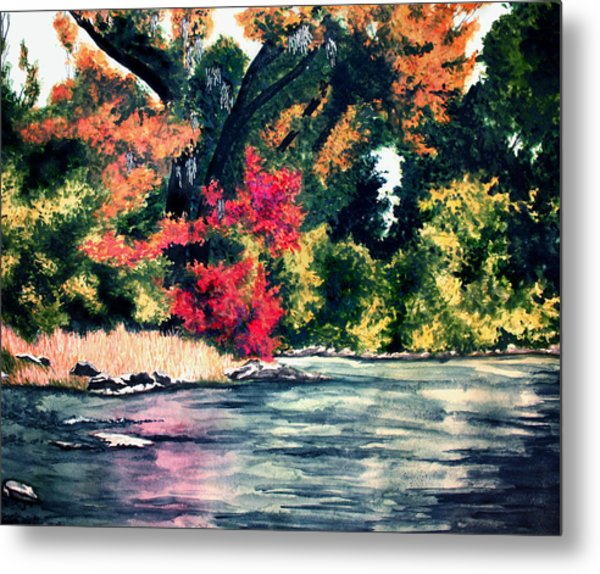 Fort Toulouse Tallapoosa River Flair Metal Print by Beth Parrish