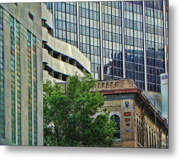 Fort Worth Old And New Metal Print