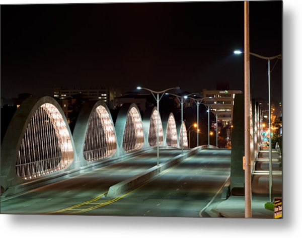 Fort Worth Seventh Street Bridge Oct 10 2014 Metal Print