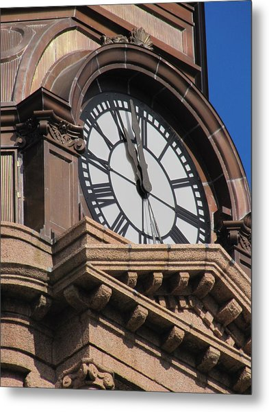 Fort Worth Texas Courthouse Clock Metal Print