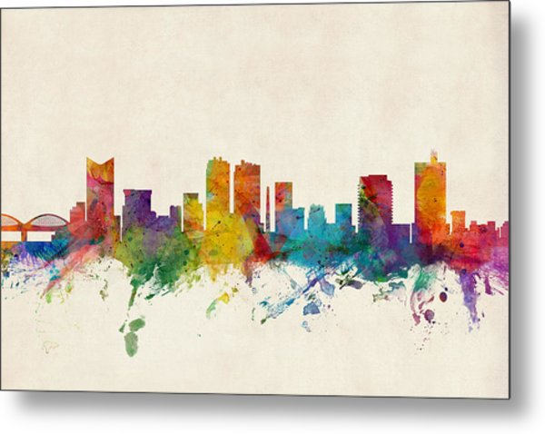 Fort Worth Texas Skyline Metal Print