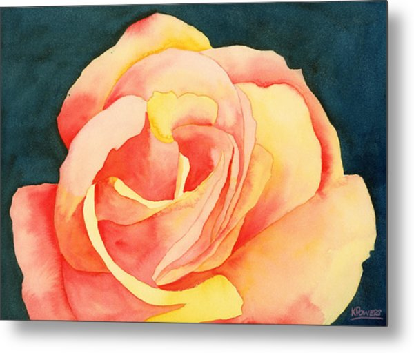 Metal Print featuring the painting Forty-five Minute Rose by Ken Powers