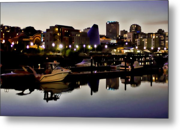 Foss Waterway At Night Metal Print