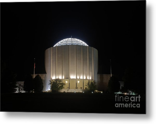 Founders Hall At Night Metal Print