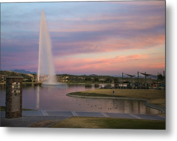 Fountain At Fountain Hills Arizona Metal Print