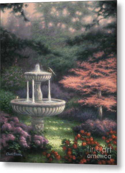 Fountain Metal Print by Chuck Pinson