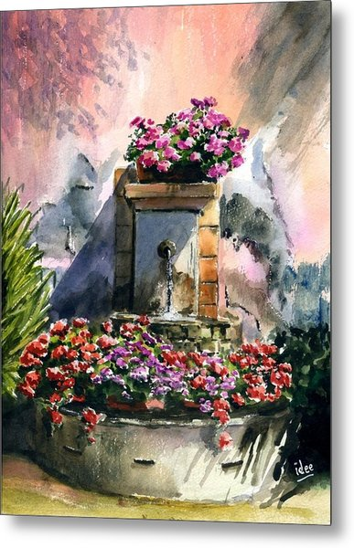 Fountain In Moustier-st-marie Metal Print by Ivo Depauw
