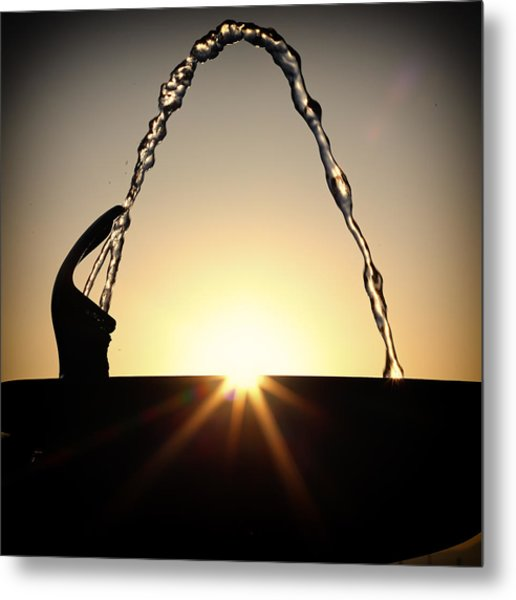 Fountain Over The Sun Metal Print by Rscpics