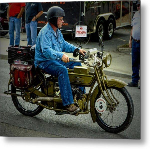 Four Cylinder Henderson Motorcycle Metal Print