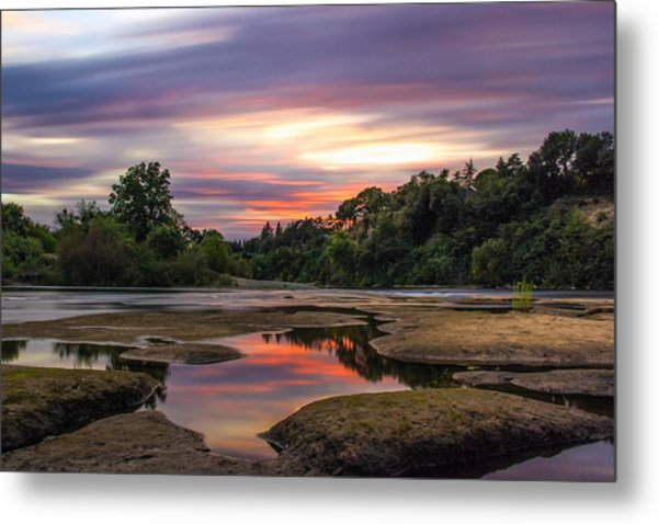 Four Minutes On The American River Metal Print